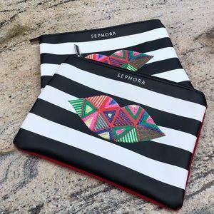 ⭐️FWP⭐️ Sephora MakeUp Bags (set of 2) NWOT